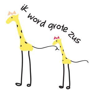 GROTE ZUS-GIRAFFE-ILLUSTRATIE