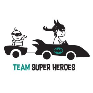 HERO TEAM ILLUSTRATIE