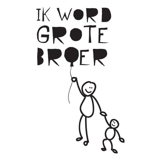 GROTE-BROER-BALLON Illustratie